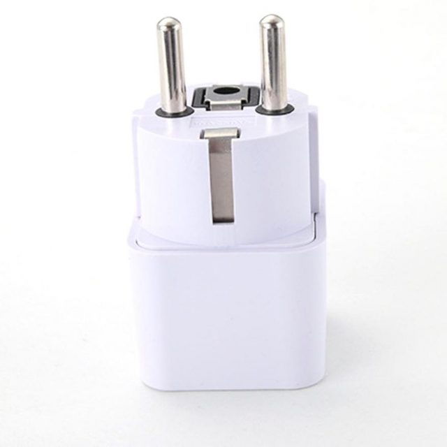 Universal UK / US / AU to EU Power Plug Adapter